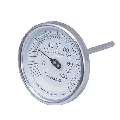 【送料無料】SATO 佐藤バイメタル温度計BM−T型 2010-34
