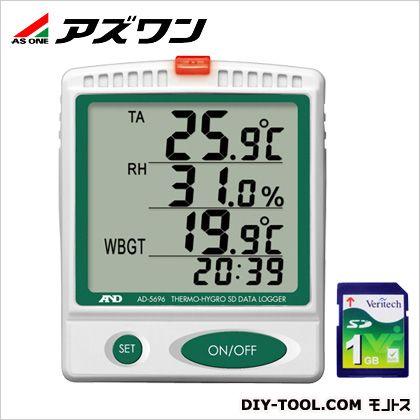 デジタル温湿度SDデータロガ  91×30×110mm 1-2400-01