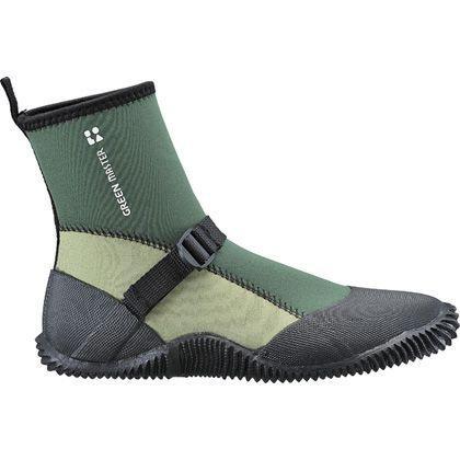園芸用長靴 ライト グリーン 高さ約18cm 2622