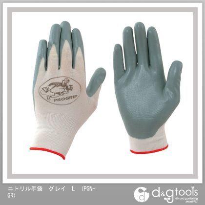 アックスブレーン ニトリル手袋 グレイ L PGN-GR