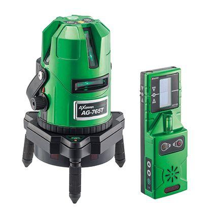 G-Liner 高輝度自動探知グリーンレーザー墨出し器  径φ102×高さ225mm(突出部を除く) AG-765T