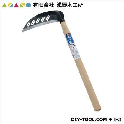 (鋼付)穴あき草刈鎌195mm  195mm 02115