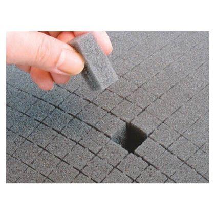 ブロッククッション 35mm ブラック 外寸:306×438×35mm BC-L  個