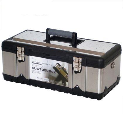 SUSツールボックス シルバー 外寸:580×300×225mm内寸:545×235×165mm STB-580  個