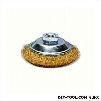ベベルワイヤーブラシ真鍮メッキ  呼び寸法:85mm GBP-1