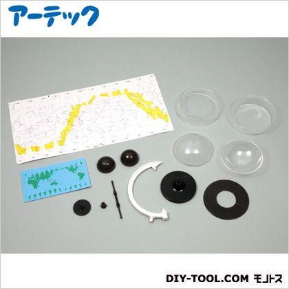 手作り透明天球儀  完成サイズ:110×150mm球径:100mm土台:φ75×全高158mm 55705