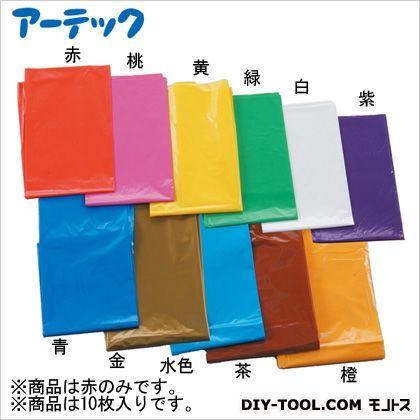 カラービニール袋(10枚組) 赤  45530