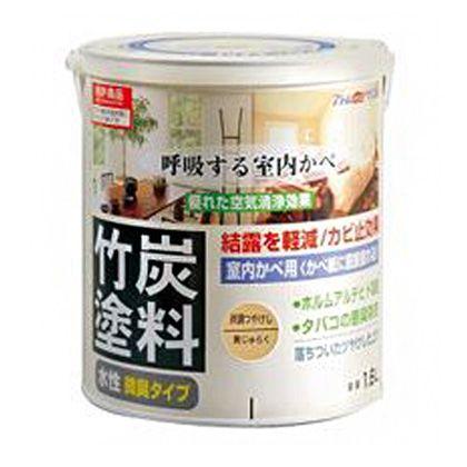 アトムハウスペイント 水性竹炭塗料 炭調黄ジュラク 1.6L