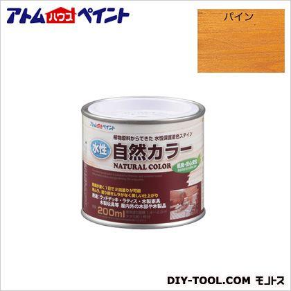 水性自然カラー(天然油脂ステイン)自然塗料 パイン 200ML