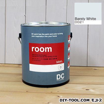 【送料無料】DCペイント かべ紙に塗る水性塗料Room(室内壁用ペイント) 【0021】Barely White 約3.8L