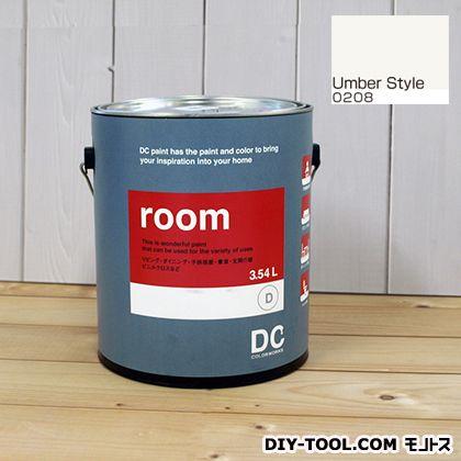 【送料無料】DCペイント かべ紙に塗る水性塗料Room(室内壁用ペイント) 【0208】Umber Style 約3.8L