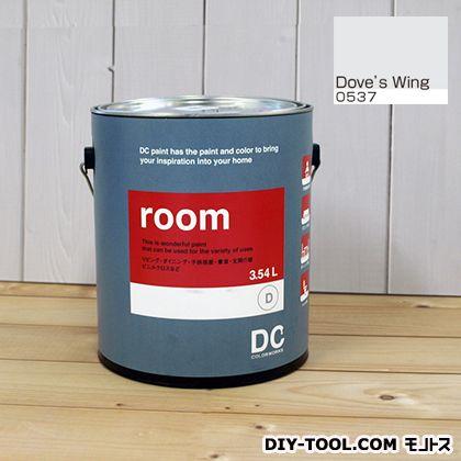 【送料無料】DCペイント かべ紙に塗る水性塗料Room(室内壁用ペイント) 【0537】Dove's Wing 約3.8L