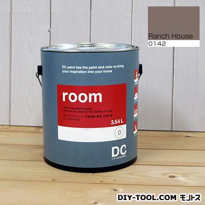【送料無料】DCペイント かべ紙に塗る水性塗料Room(室内壁用ペイント) 【0142】Ranch House 約3.8L