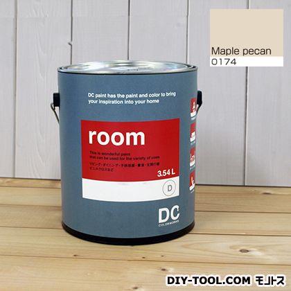 【送料無料】DCペイント かべ紙に塗る水性塗料Room(室内壁用ペイント) 【0174】Maple Pecan 約3.8L