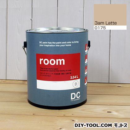 【送料無料】DCペイント かべ紙に塗る水性塗料Room(室内壁用ペイント) 【0175】3am Latte 約3.8L
