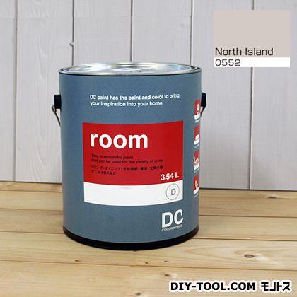 【送料無料】DCペイント かべ紙に塗る水性塗料Room(室内壁用ペイント) 【0552】North Island 約3.8L