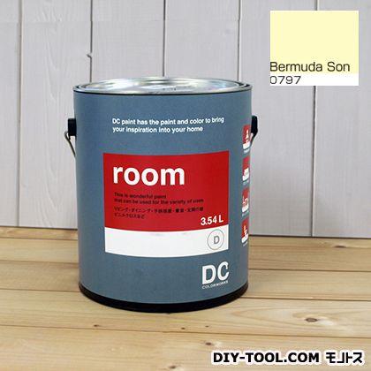 【送料無料】DCペイント かべ紙に塗る水性塗料Room(室内壁用ペイント) 【0797】Bermuda Son 約3.8L