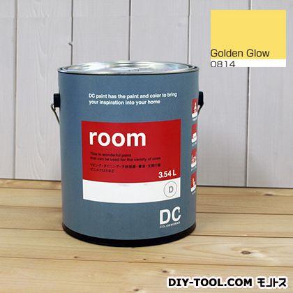【送料無料】DCペイント かべ紙に塗る水性塗料Room(室内壁用ペイント) 【0814】Golden Glow 約3.8L