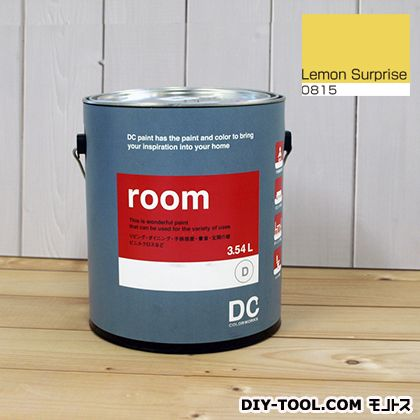 【送料無料】DCペイント かべ紙に塗る水性塗料Room(室内壁用ペイント) 【0815】Lemon Surprise 約3.8L