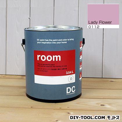 【送料無料】DCペイント かべ紙に塗る水性塗料Room(室内壁用ペイント) 【0112】Lady Flower 約3.8L