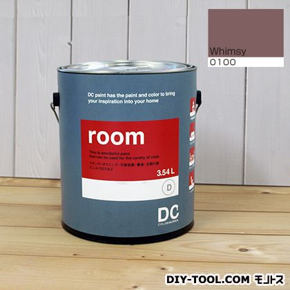 【送料無料】DCペイント かべ紙に塗る水性塗料Room(室内壁用ペイント) 【0100】Whimsy 約3.8L