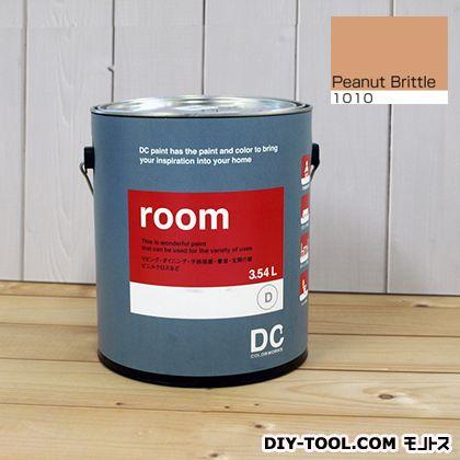 【送料無料】DCペイント かべ紙に塗る水性塗料Room(室内壁用ペイント) 【1010】Peanut Brittle 約3.8L