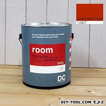 【送料無料】DCペイント かべ紙に塗る水性塗料Room(室内壁用ペイント) 【1067】Sweet Baby Rose 約3.8L