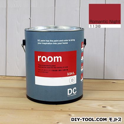 【送料無料】DCペイント かべ紙に塗る水性塗料Room(室内壁用ペイント) 【1138】Romantic Night 約3.42L 1点