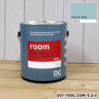 【送料無料】DCペイント かべ紙に塗る水性塗料Room(室内壁用ペイント) 【0484】Stormy Bay 約3.8L