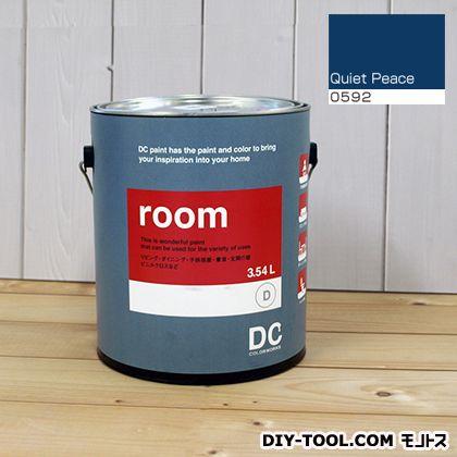 【送料無料】DCペイント かべ紙に塗る水性塗料Room(室内壁用ペイント) 【0592】Quiet Peace 約3.8L