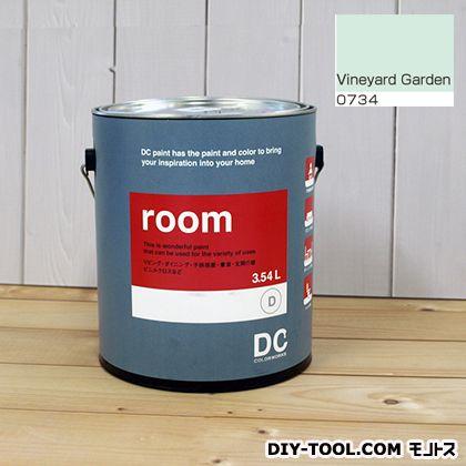 【送料無料】DCペイント かべ紙に塗る水性塗料Room(室内壁用ペイント) 【0734】Vineyard Green 約3.8L