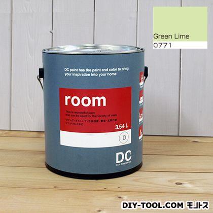 【送料無料】DCペイント かべ紙に塗る水性塗料Room(室内壁用ペイント) 【0771】Green Lime 約3.8L