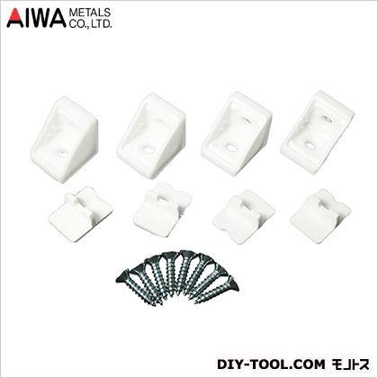 コネクター(ジョイント金具) ホワイト 21×18 AP-1302W 4 個