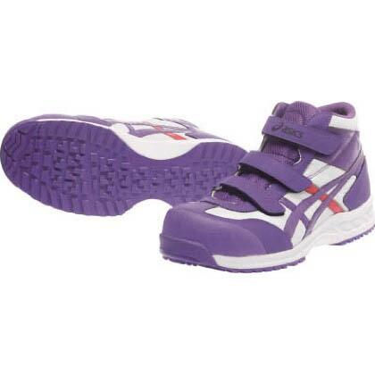 作業用靴ウィンジョブ42SホワイトXパープル22.5cm ホワイト×パープル 22.5cm FIS42S.0133 22.5