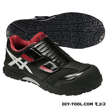 【送料無料】アシックス ウィンジョブ CP101 作業用靴 黒×赤 27.5cm FCP101.9001 27.5  作業靴安全靴