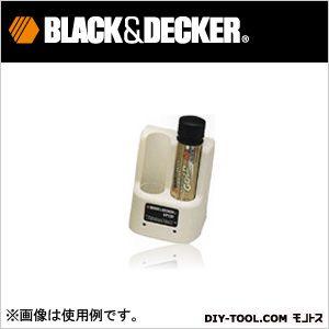 ブラック&デッカー バーサパック充電池用充電器2ポートチャージャー ホワイト VP130W