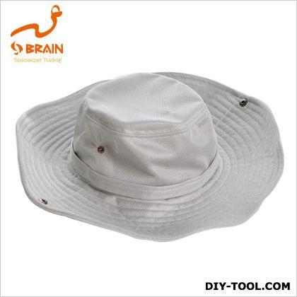 ブレイン ひんやりつば広帽子 ホワイト