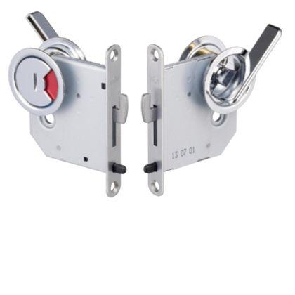 268Tラウンド鎌錠 B/S50 大型サムターン 表示錠 クローム ドア厚:33-40 268T-50-40-4