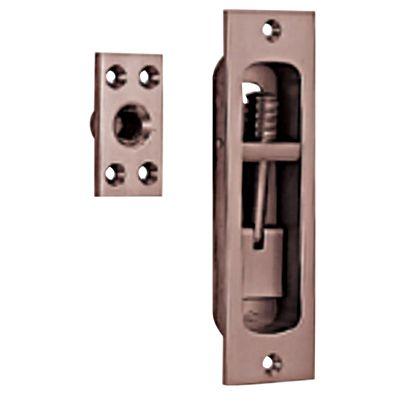 【送料無料】ベスト 500 角引手付捻締 古代ブロンズ 120mm 500N-120-3  サッシ補助錠ドア用サッシ用防犯