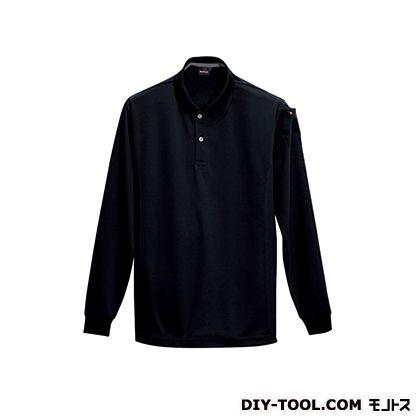 長袖ポロシャツ ブラック M 303