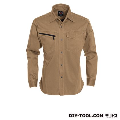 長袖シャツ キャメル M 5205  ヶ