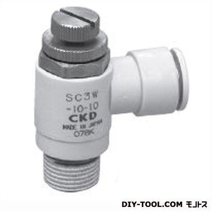 スピコンエルボタイプワンタッチ継手付  幅×高さ:48×66.7mm SC3W-15-10