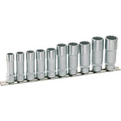 【送料無料】HAZET ディープソケットセット(12角タイプ・差込角9.5)レール付 264 x 65 x 36 mm 880TZ10H 1S