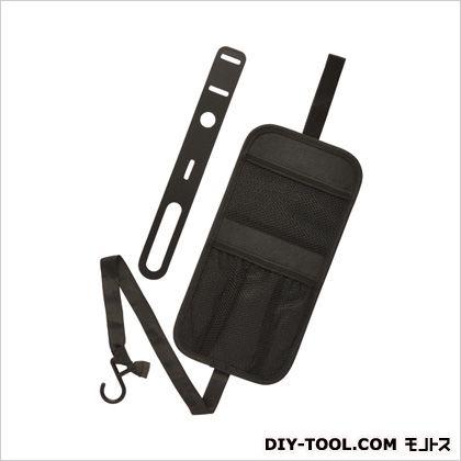 収納シートサイドポケット小物入れ ブラック H290×W145×D5(mm) CZ349