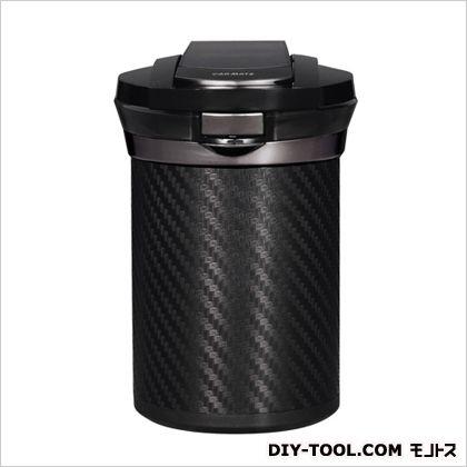 カーメイト 愛煙缶Premiumカーボン調灰皿 ブラック H120×W79×D89(mm) DZ186