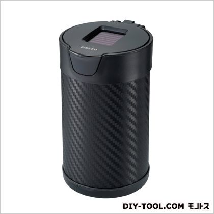 灰皿ヒットLソーラー付カーボン調 ブラック H96×W69×D81(mm) DZ176