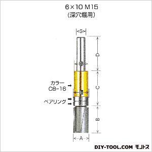 ガイドベアリング付ストレートビット6×10M15   GM15