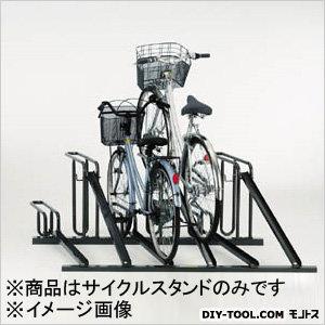 自転車ラックサイクルスタンド5台収容左低位  W1400×D1613×H600mm KSD285A