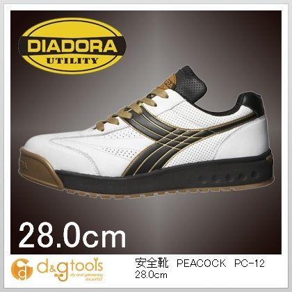 【送料無料】ディアドラ PEACOCK(ピーコック)WHT+BLK 28.0cm 28.0cm PC-12  1 0