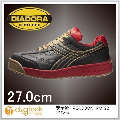 ディアドラ DIADORA安全作業靴ピーコック黒27.0cm 27.0cm PC-22